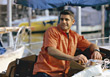 Young Man Boating stock photography