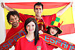 Young People Supporting Spain stock photography