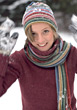 Young Woman Playing In The Snow stock photography