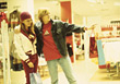 Young Women Shopping In Department Store stock photo