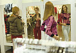 Young Women Trying On New Clothes stock image