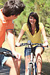 Enjoy Youth On Bike stock photography
